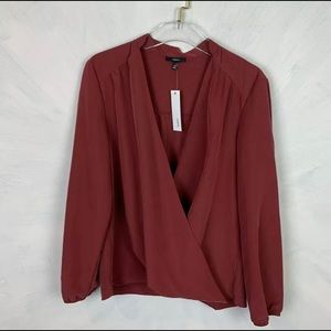 DREW Anthropologie Wrap Long Sleeve Top Size Large